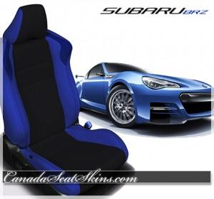 Subaru BRZ Blue Custom Leather Seats