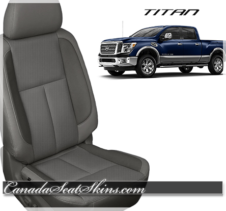 Nissan Titan Grey Leather Seat Photo