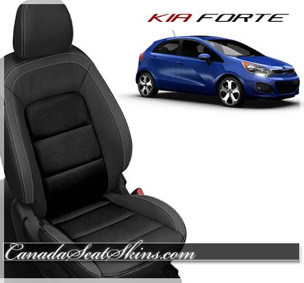 2014 - 2016 Kia Forte Black Carbon Leather Seats
