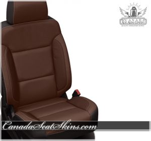 2017 Silverado Black Bourbon Leather Seats