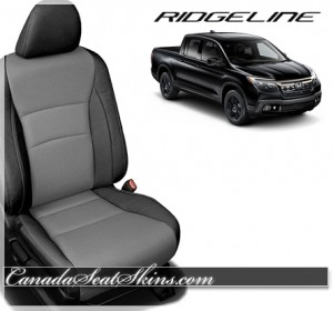 2017 Honda Ridgeline Black and Ash Leather Seats