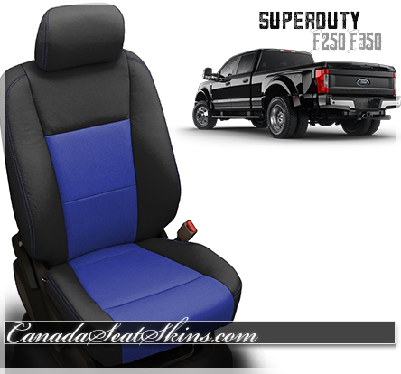 2018 F250 Katzkin Blue Leather Seat