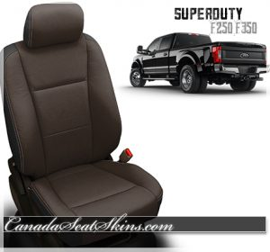 2017 - 2018 Ford F250 F350 F450 Katzkin Java Leather Seats