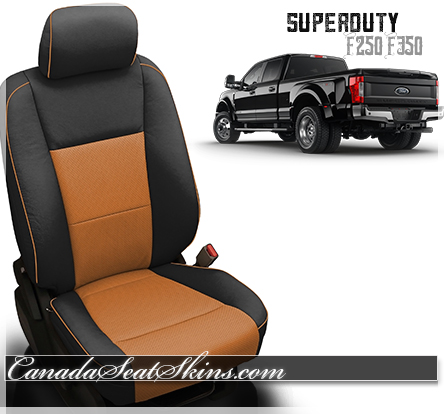 2017 - 2018 Ford F250 F350 F450 Katzkin Red Leather Seats