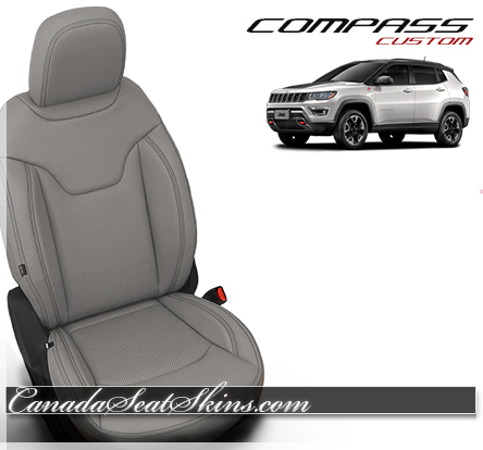 2018 Jeep Compass Dove Grey Leather Seats