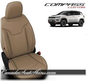 2018 Jeep Compass Katzkin Sandstone Leather Seats