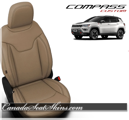 2018 Jeep Compass Katzkin Sandstone Leather Seats