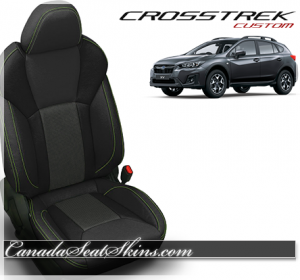 2018 Subaru Crosstrek Katzkin Lime Green Leather Seats