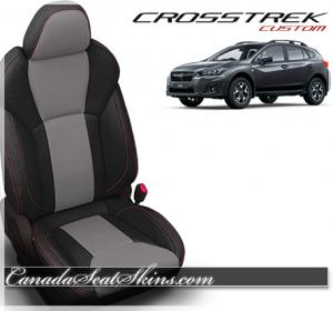 2018 Subaru Crosstrek Katzkin Ash Grey Leather Seats