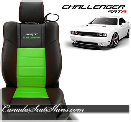 2014 Challenger SRT Katzkin Leather Upholstery Lime
