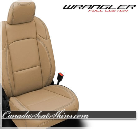 2019 Jeep Wrangler Tan Leather Katzkin Custom Seats
