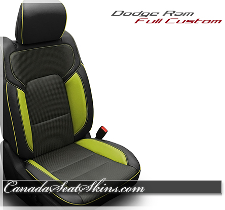 2019 Ram Screaming Green Katzkin Leather Seats