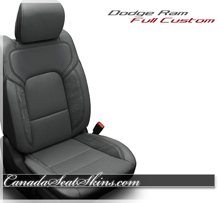 2019 Ram Iron Grey outlaw Katzkin Leather Seats
